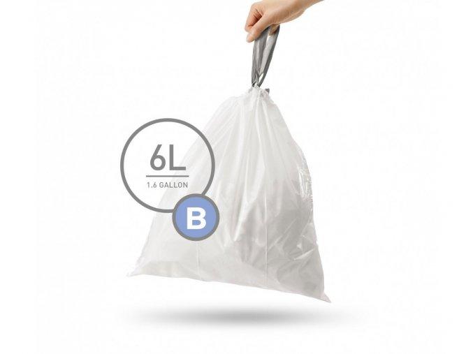 15074 sacky do odpadkoveho kose 6 l simplehuman typ b zatahovaci 30 ks v baleni