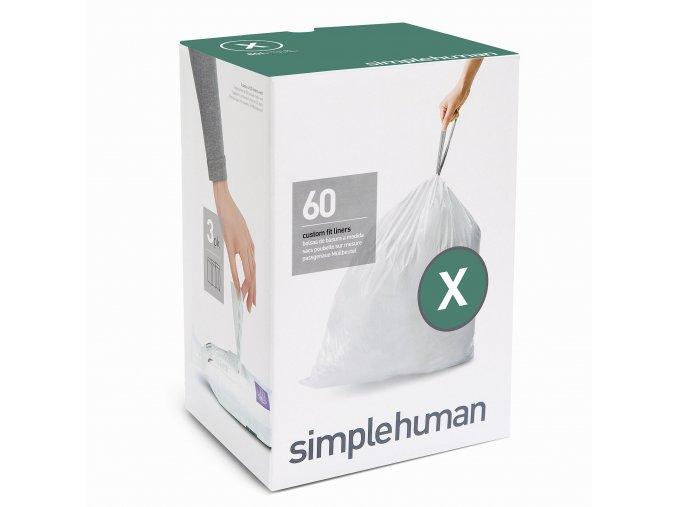 15548 sacky do odpadkoveho kose 80 l simplehuman typ x zatahovaci 3 x 20 ks 60 sacku