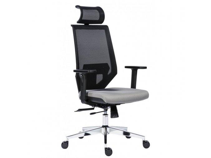 Kancelářská židle EDGE šedá Antares  + aku šroubovák