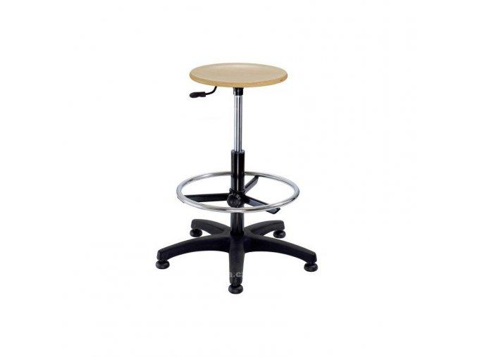 Pracovní židle Nora dřevo kruh