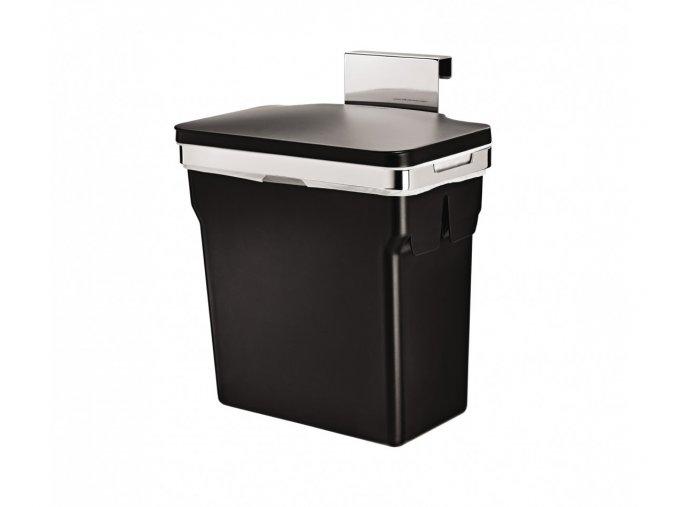 15062 vestavny odpadkovy kos simplehuman 10 l chromovana ocel plastovy kbelik