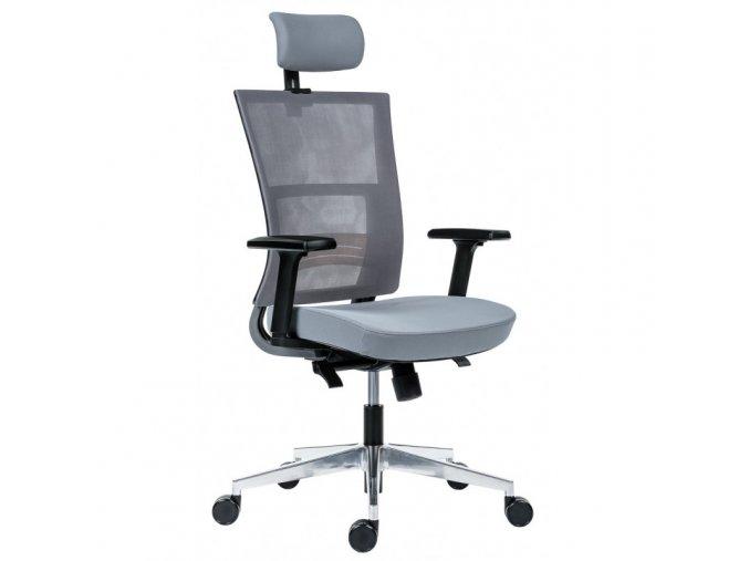 Kancelářská židle Next PDH Antares šedá  + aku šroubovák