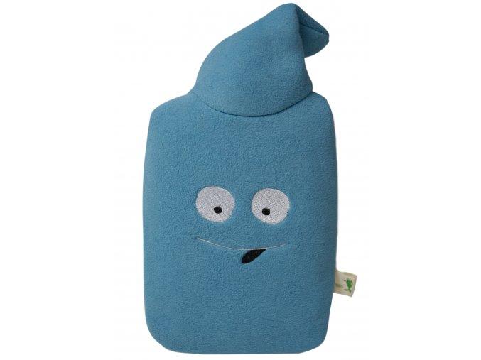 Dětský termofor Hugo Frosch Eco Junior Comfort s modrým fleecovým obalem