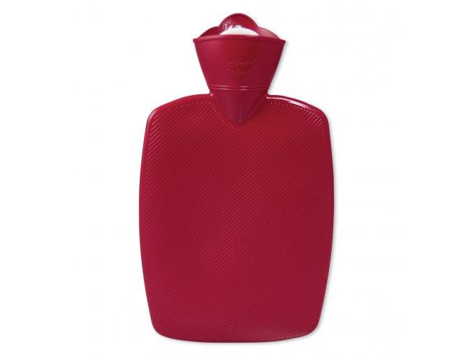 Termofor Hugo Frosch Classic s drážkovaným povrchem – červený