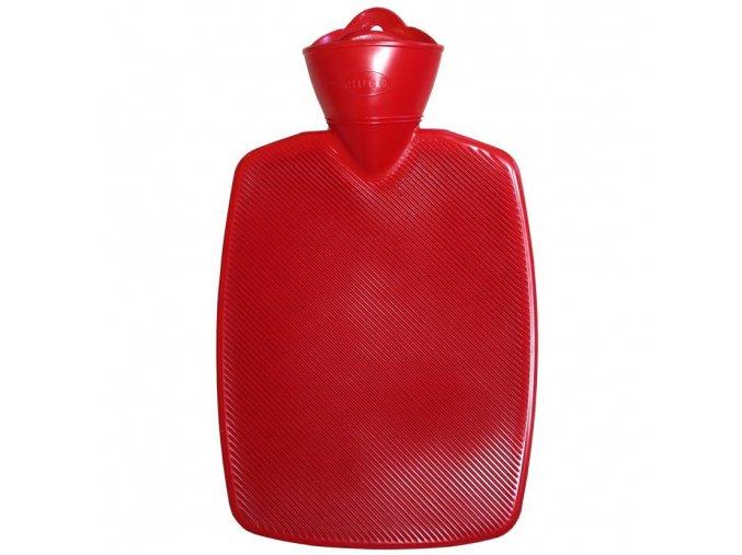 0471 3 Termofor Hugo Frosch Classic s vysokym drazkovanim cerveny