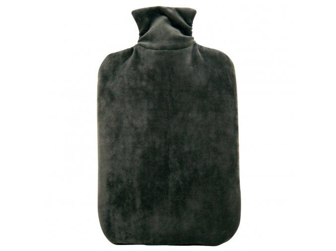 Termofor Hugo Frosch Eco Classic Comfort se sametovým obalem - měsíční šedá