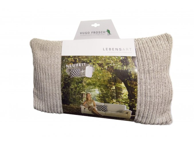 Vyhřívaný polštář Sylt z organické bavlny, uvnitř termofor Hugo Frosch Eco Classic Comfort