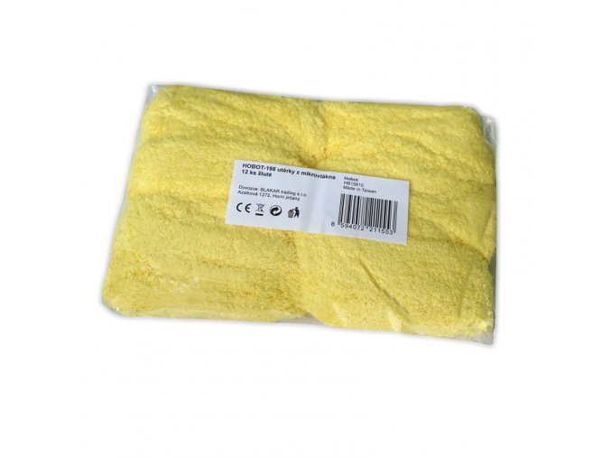 HOBOT-198 utěrky z mikrovlákna 12 ks žluté