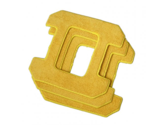 HOBOT-268 utěrky z mikrovlákna 3 ks žluté