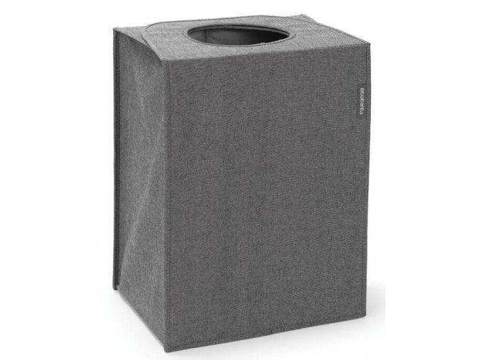 Taška na prádlo obdélník tmavě šedý melír