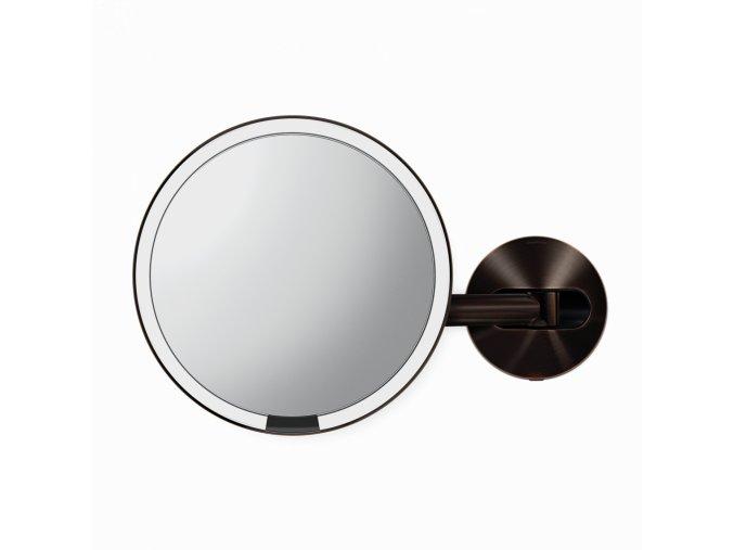 16493 kosmeticke zrcatko na zed simplehuman sensor led osvetleni 5x sitove dark bronz ocel