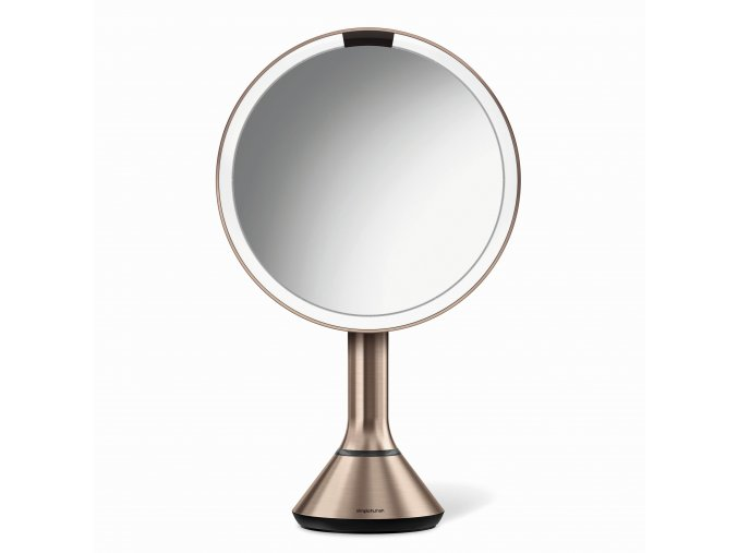 16499 kosmeticke zrcatko simplehuman sensor touch led osvetleni 5x dobijeci rose gold