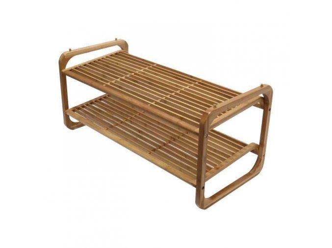 16985 2 patrovy botnik compactor ugo z prirodniho bambusoveho dreva nastavitelny 75 x 33 x 34