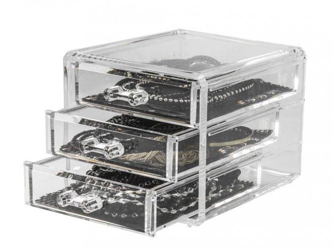 15731 maly organizer na sperky compactor 3 zasuvky ciry plast