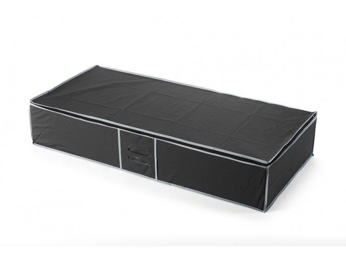 15314 textilni ulozny box na obleceni pod postel compactor 90 x 45 x18 cm cerny
