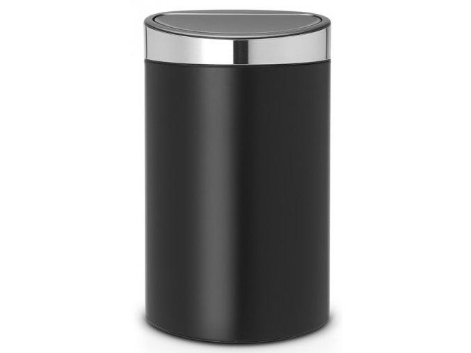 Koš Touch Bin NEW 40L matná černá, mat víko
