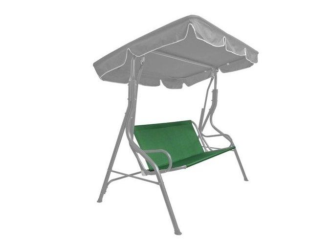 Plátno na sedák k houpačce zelené