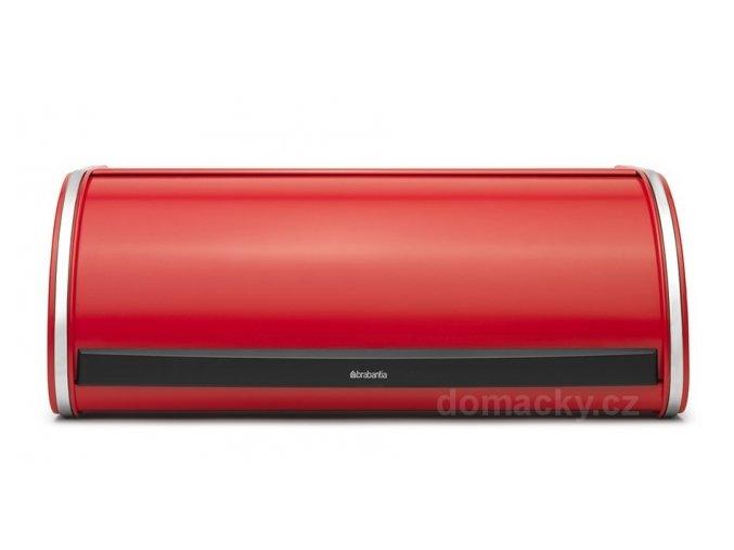 Chlebník Brabantia Roll Top zářivě červená  Prkénko zdarma