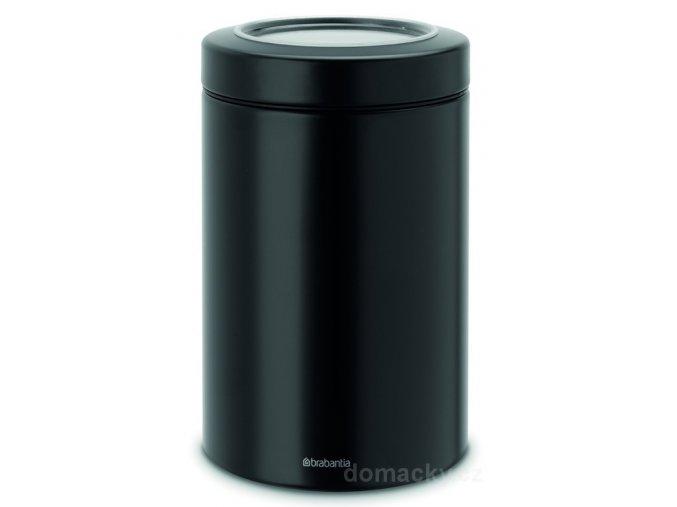 Dóza průhledné víko matná černá