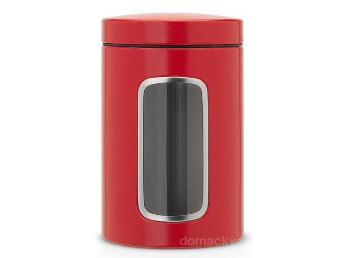 Dóza okénko 1,4L zářivě červená