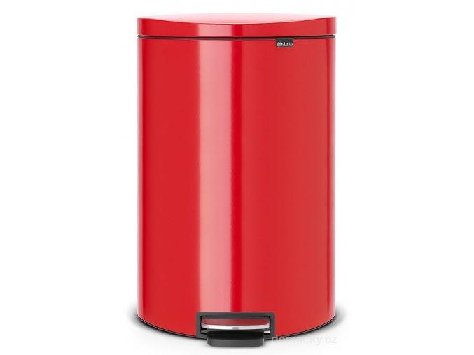 Pedálový koš FlatBack+ Silent 40L zářivě červená