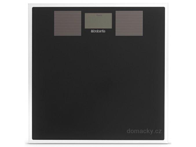 Solární osobní váha černé sklo