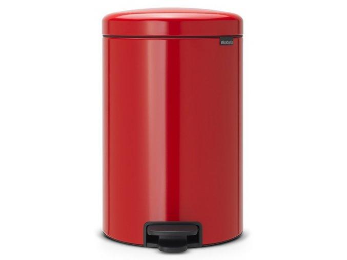 Pedálový koš NewIcon 20L zářivě červená