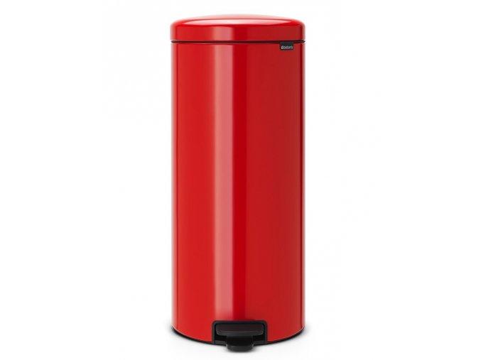 Pedálový koš NewIcon 30L zářivě červená  + dárek vůně do koše