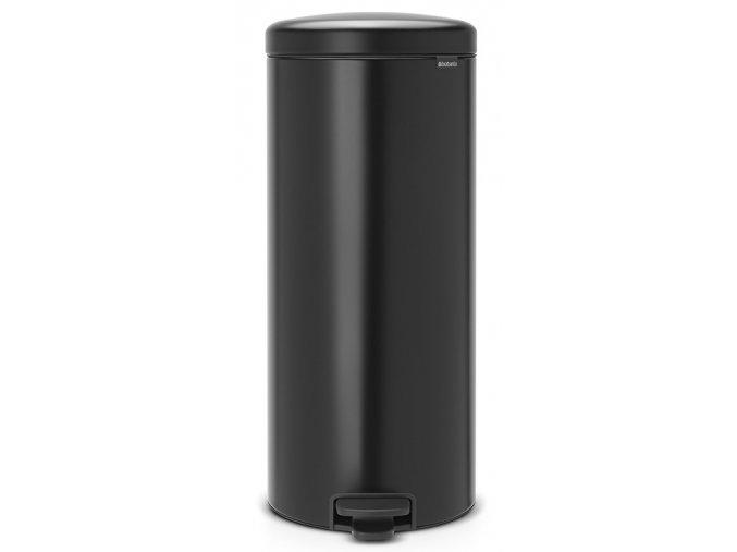 Pedálový koš NewIcon 30L matná černá  + dárek vůně do koše