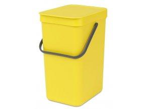109768 Sort Go Waste Bin 12L Yellow 01