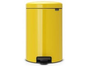 Pedálový koš NewIcon 20L žlutá