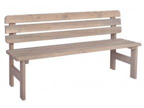 Dřevěná lavice VIKING ŠEDÁ - 150 cm