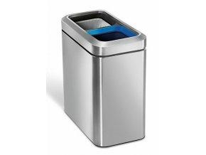 Odpadkový koš na tříděný odpad Simplehuman 20l nerez ocel