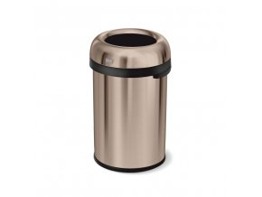16196 odpadkovy kos simplehuman do komercnich prostor 115 l kulaty otevreny rose gold ocel