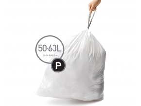 15107 sacky do odpadkoveho kose 50 60 l simplehuman typ p zatahovaci 20 ks v baleni