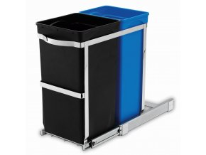 15068 vestavny odpadkovy kos na trideny odpad simplehuman 20 15 l vysuvny leskla ocel plast