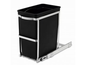15065 vestavny odpadkovy kos simplehuman 30 l vysuvny leskla ocel plastovy kbelik