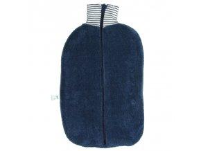 Ohřívací láhev Bio Marine s modrým obalem na zip, termofor Hugo Frosch Eco Classic Comfort