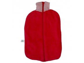 Ohřívací láhev Bio Třešeň, červený obal na zip, termofor Hugo Frosch Eco Classic Comfort