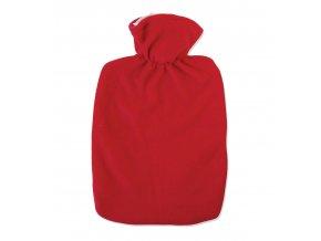 Termofor Hugo Frosch Classic s hladkým fleecovým obalem – červený