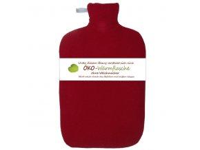 Termofor Hugo Frosch Eco Classic Comfort s červeným fleecovým obalem