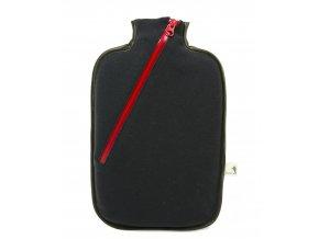 Termofor Hugo Frosch Eco Classic Comfort se softshellovým obalem na zip – černý