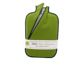 Termofor Hugo Frosch Eco Classic Comfort se softshellovým obalem na zip – zelený