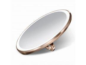 16478 kapesni kosmeticke zrcatko simplehuman sensor compact led osvetleni aku 3x rose gold