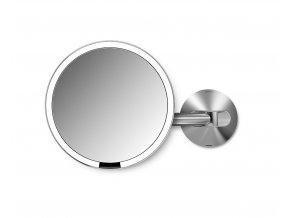 15239 kosmeticke zrcatko na zed simplehuman sensor led osvetleni 5x dobijeci matny nerez