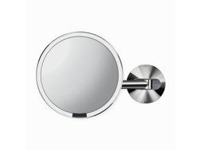 16490 kosmeticke zrcatko na zed simplehuman sensor led osvetleni 5x sitove leskla nerez