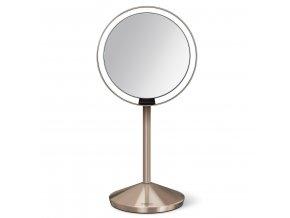 15743 kosmeticke zrcatko simplehuman sensor tru lux led osvetleni 10x zvetseni aku rose gold