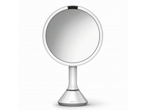 16496 kosmeticke zrcatko simplehuman sensor touch led osvetleni 5x dobijeci bila