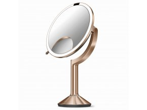 16508 kosmeticke zrcatko simplehuman sensor trio led osvetleni 1x 5x 10 dobijeci rose gold