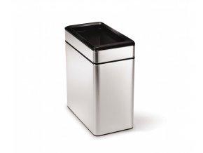 14987 odpadkovy kos simplehuman 10 l hranaty otevreny matna ocel